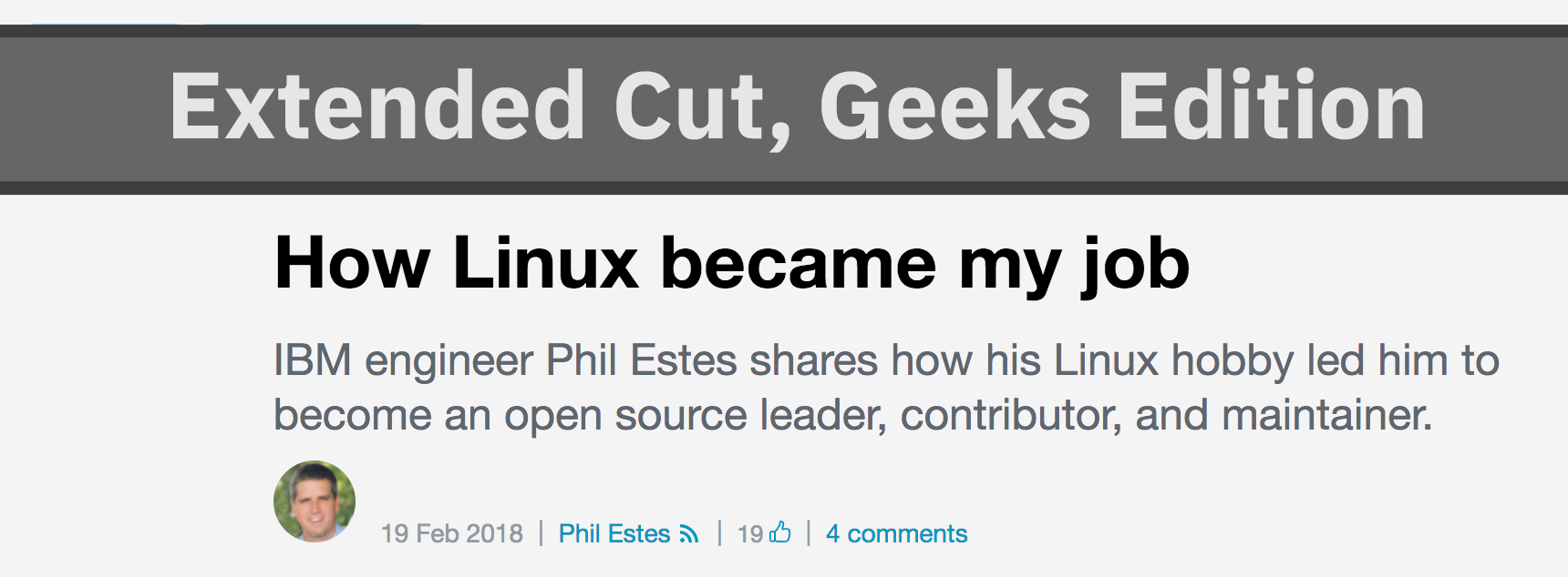 """How Linux Became My Job"""": Extended Cut, Geeks Edition"""